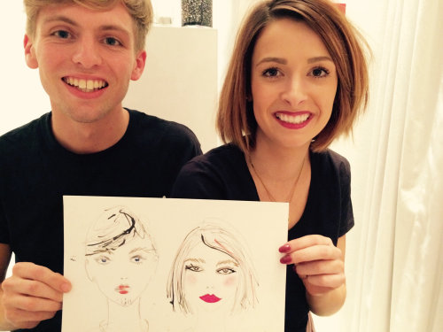 live event drawing of couple art