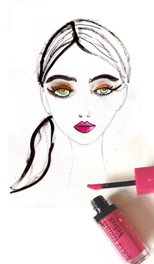 live event drawing fashion model