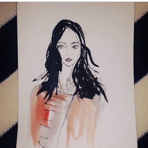 live event drawing of girl