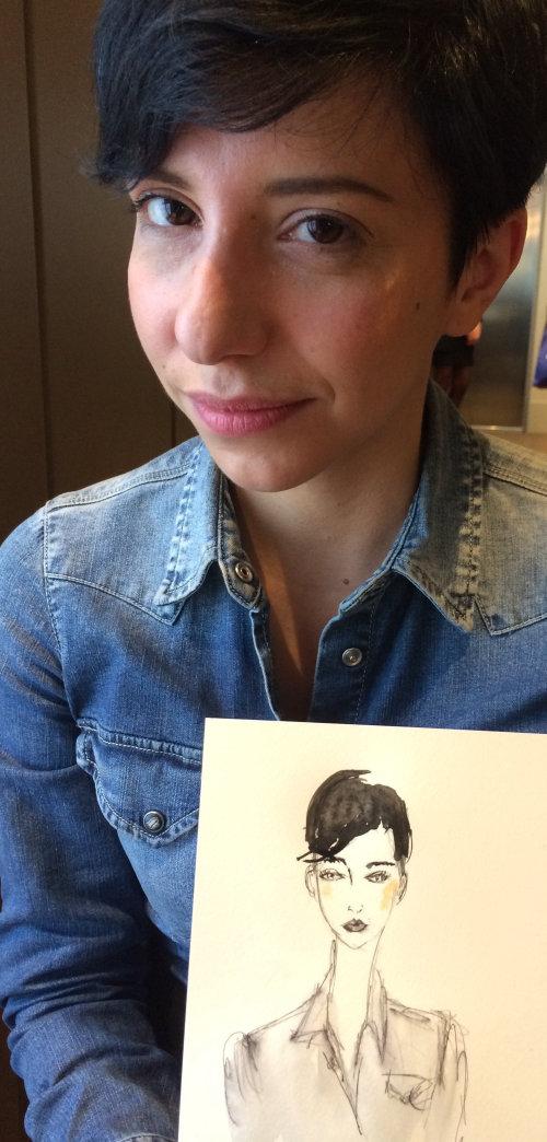 Live Event Drawing stylish woman