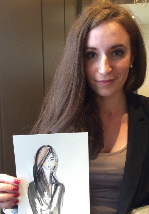 Live Event Drawing woman with loose hair