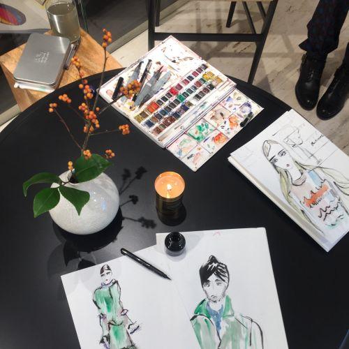 Lucia Emanuela Curzi Live Event Drawing Desenho de evento ao vivo