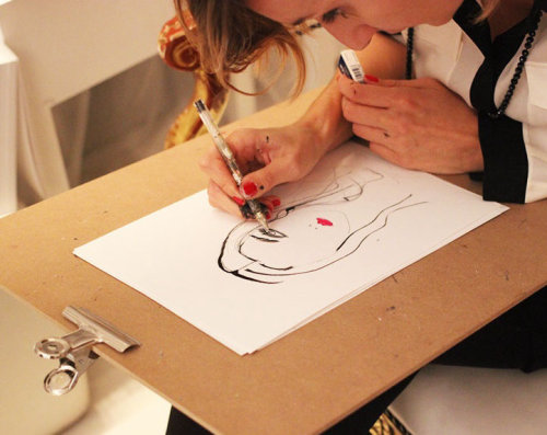 Live portrait drawing by Lucia Emanuela Curzi