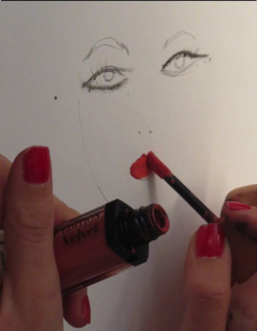 Live Event Drawing lipstick