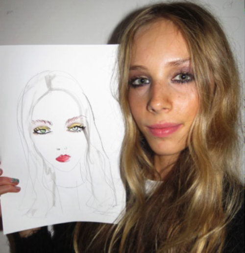 Live Event Drawing Women with her portrait