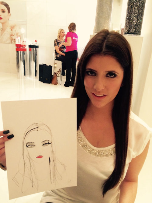 Live Event Drawing of women with her drawing