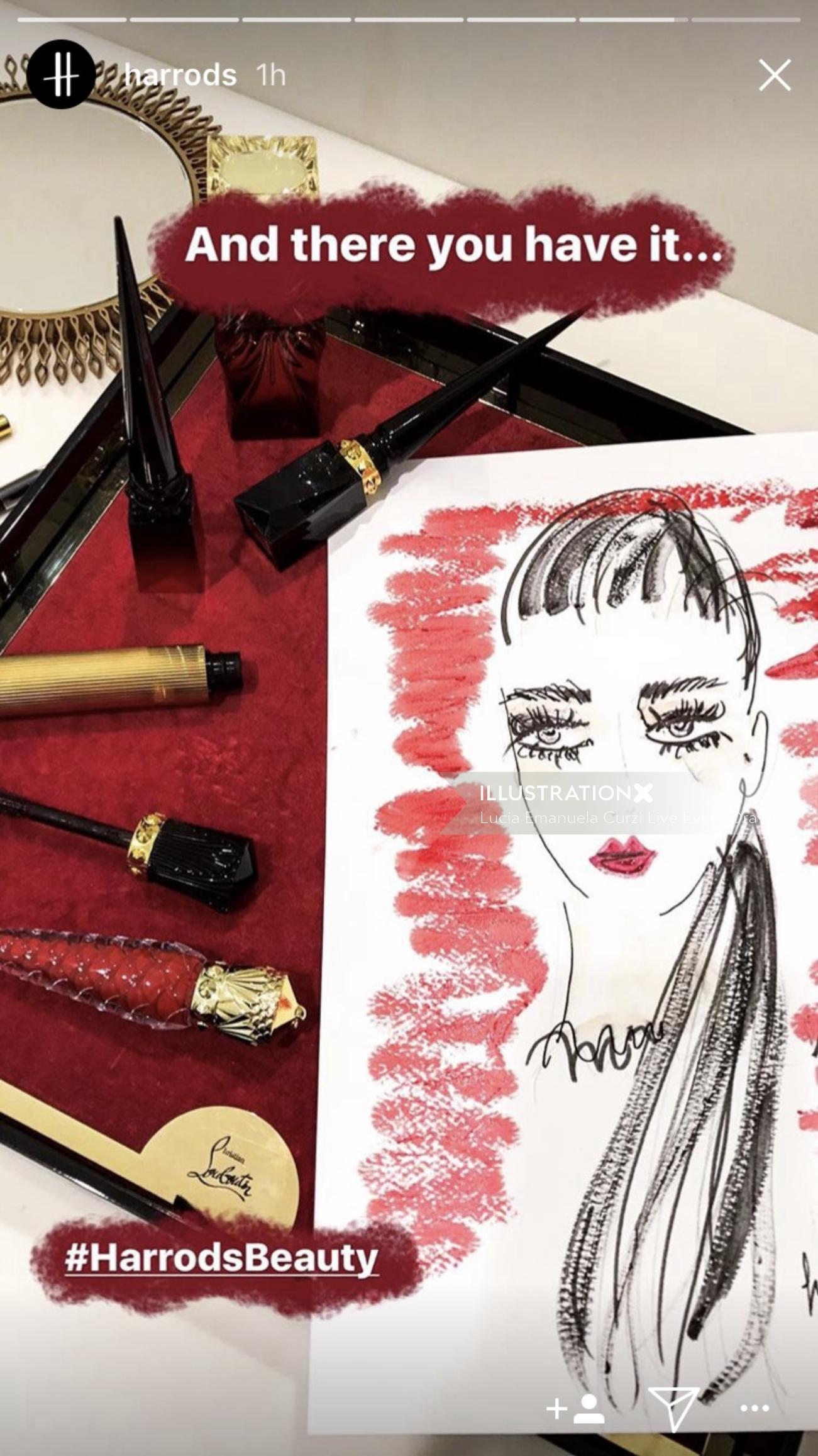 Live event cosmetic drawing