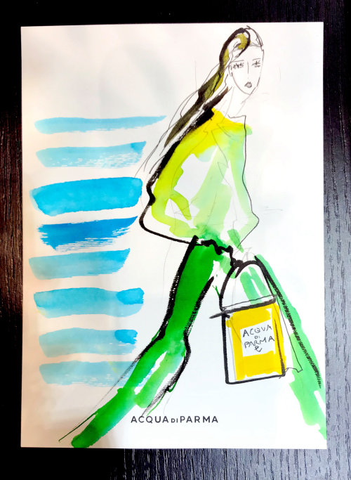 Live Event Drawing Acqua Di Parma fashions