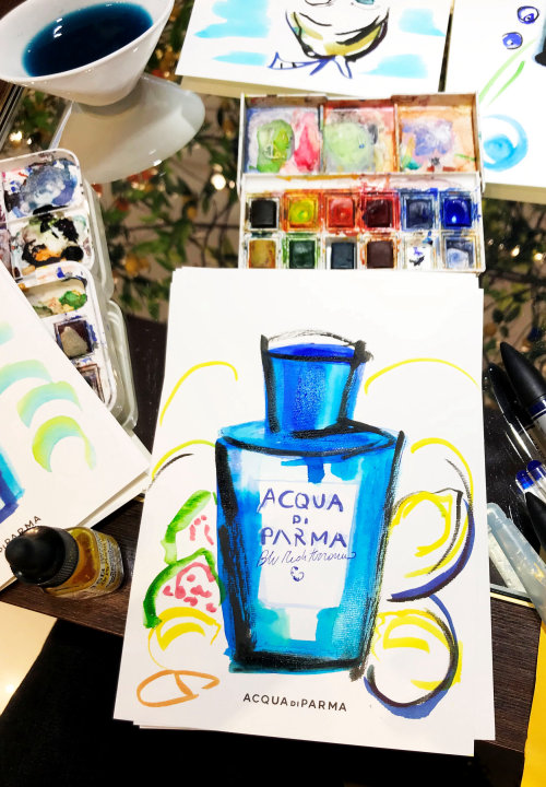 Live Event drawing Acqua De Parma perfume