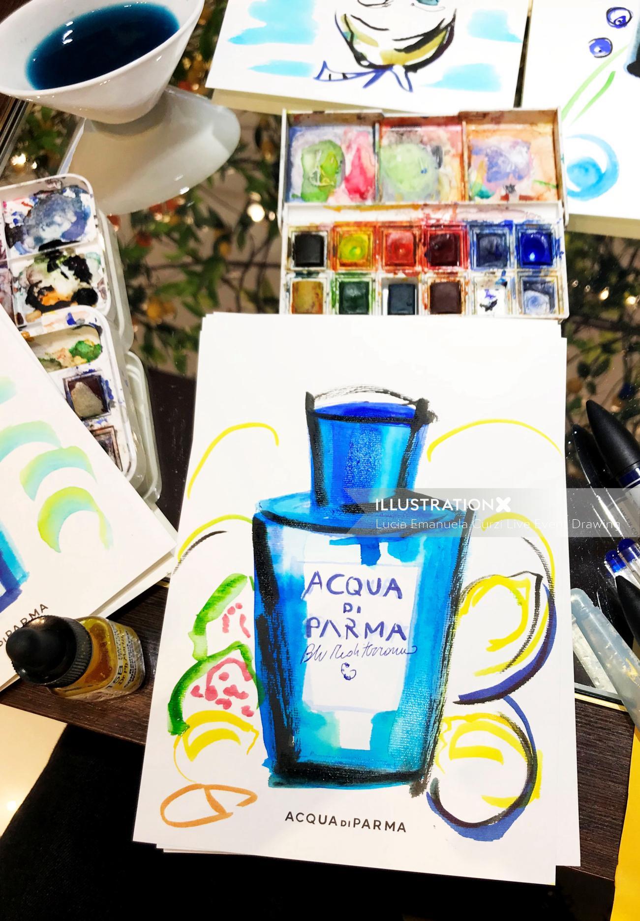 Live Event drawing Acqua De Parma perfume
