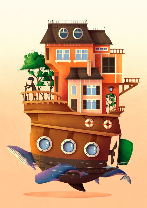 Unimaginable Worlds Collection - House Boat