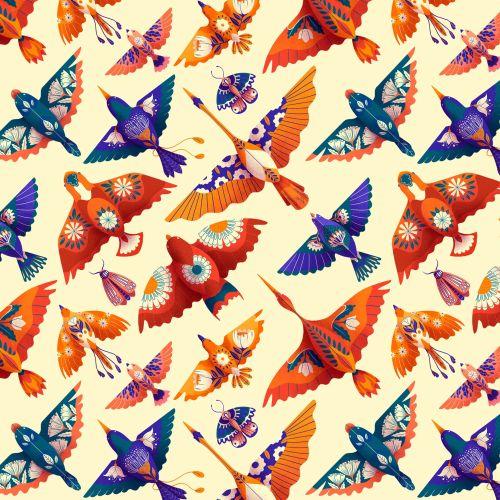Patterns Fancy Birds