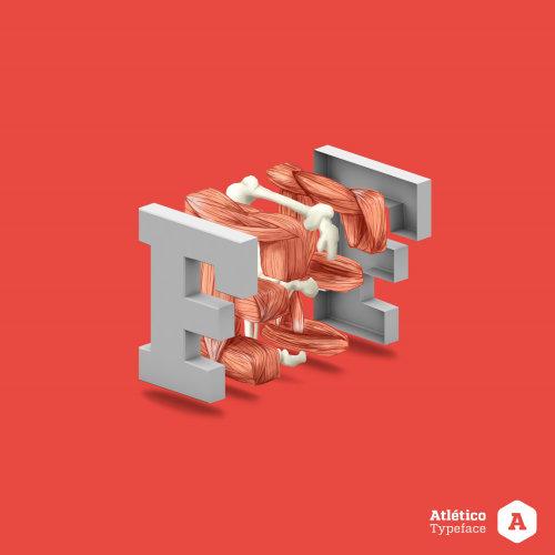 3d letter illustration F