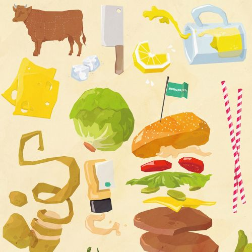 Food and drink illustration of fast food