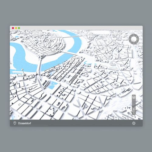 Graphic illustration of city map