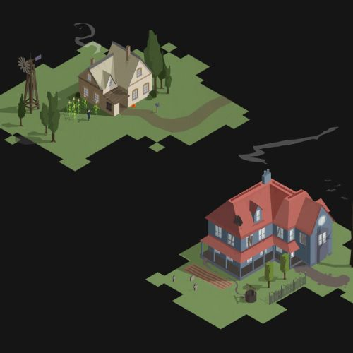 Graphic illustration of Houses