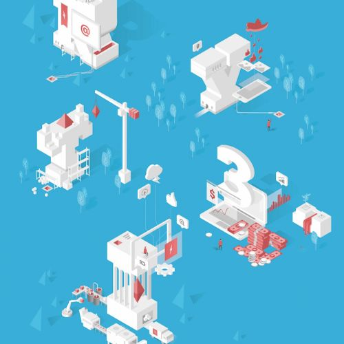Isometric vector elements graphic design