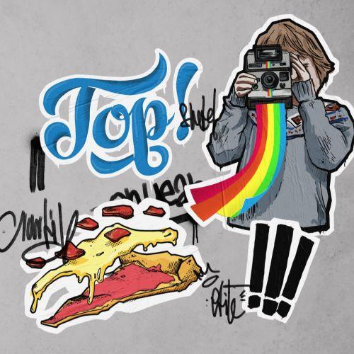 digital illustration of food photography