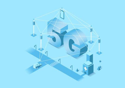 Vector art of 5G network