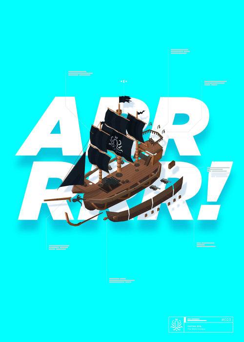 Typography art of ARR RRR!