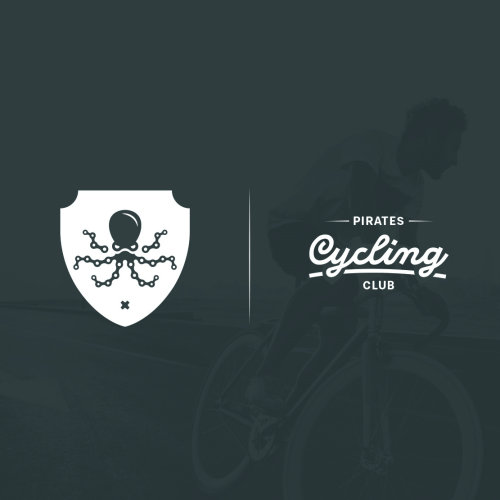 pirates cycling vector illustration