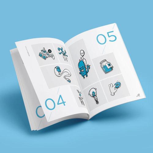 Vector illustration of book design