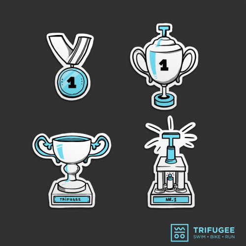 Vector illustration of trophies and medals