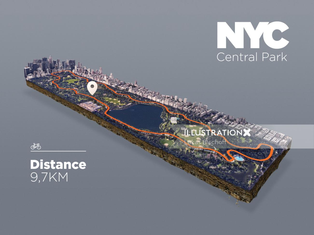 3d maps of NYC central park