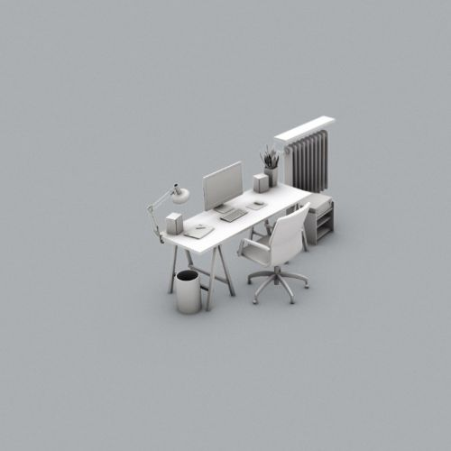3d design of work place