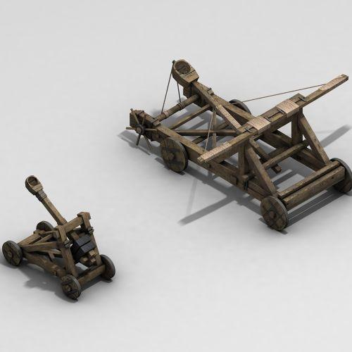 3d technical ancient war tools