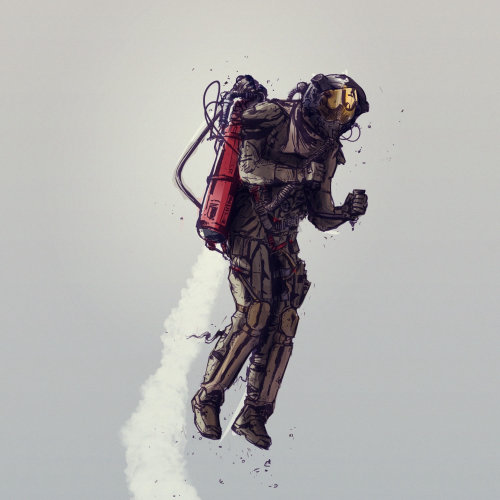 technical man with flying suit