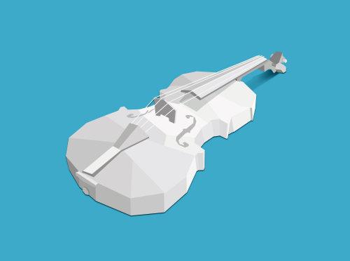 3d render Violin