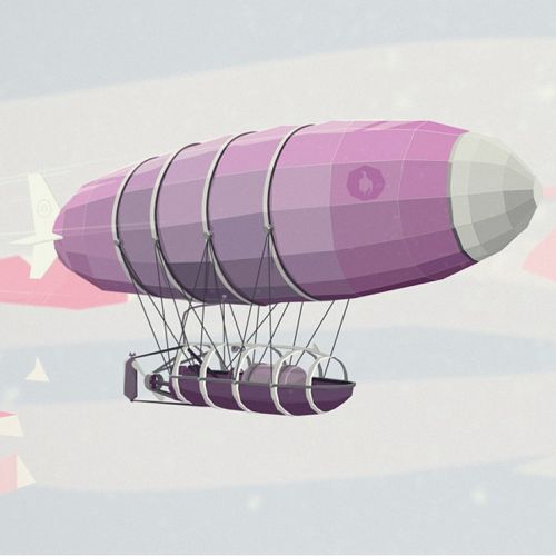 3d graphic illustration of air ship