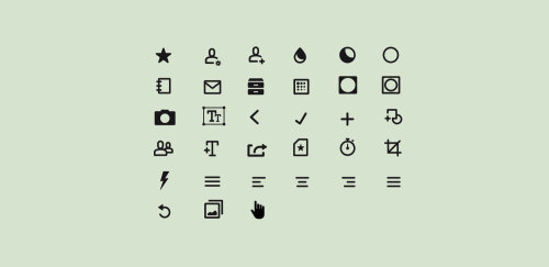 Illustration of graphic icons