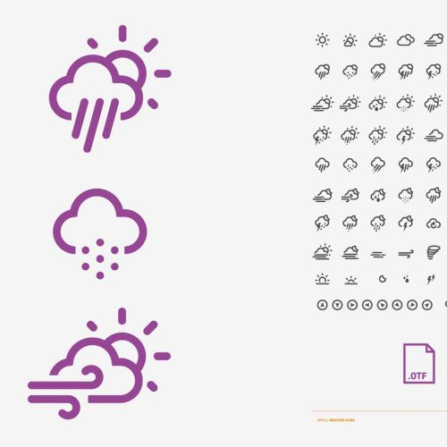 Graphic weather icons