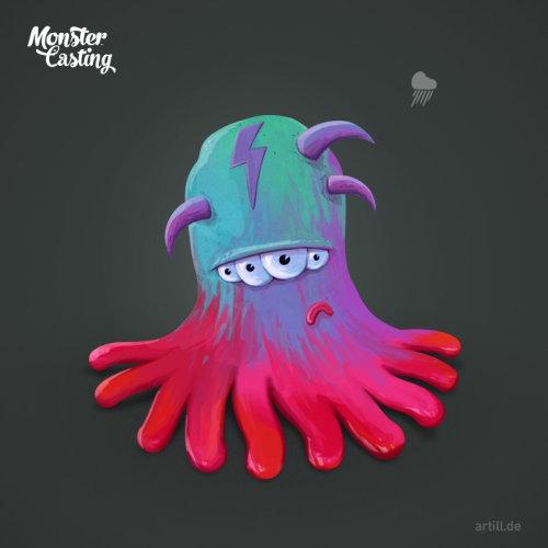 Alien with horns illustration