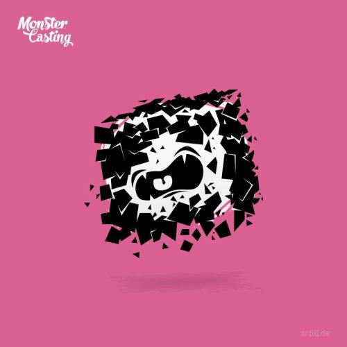 cartoon of broken monster