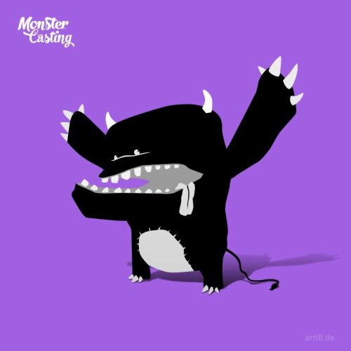 Illustration of shouting monster