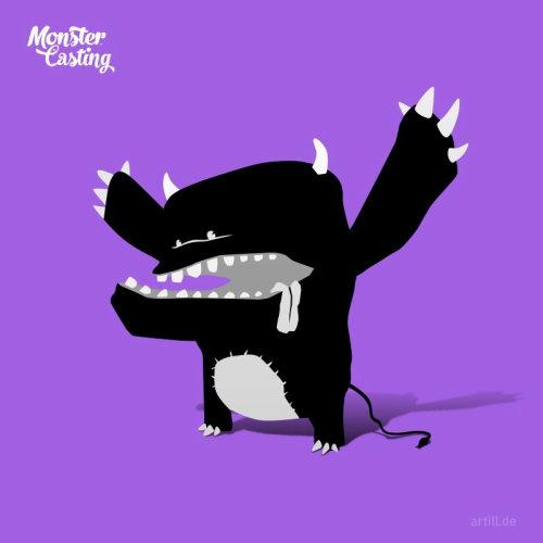 Illustration of shouting monster