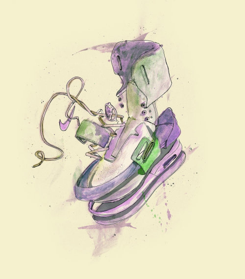 loose shoe illustration