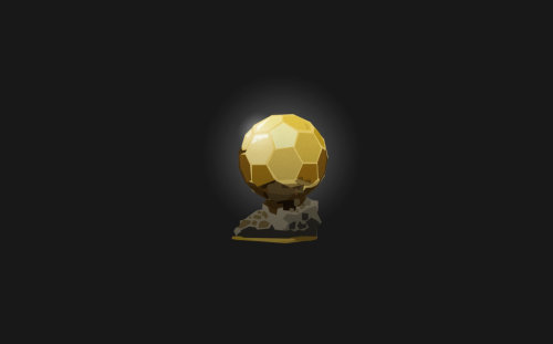 3d Graphic gold ball