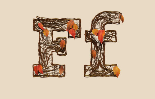 Lettering E & F