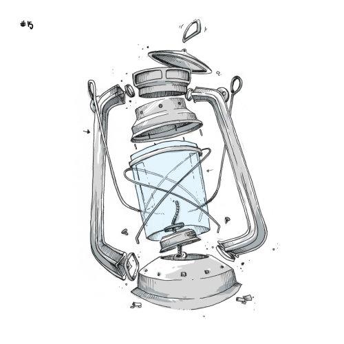 Loose illustration of kerosene lamp