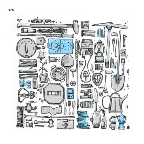 Loose Illustration of construction tools
