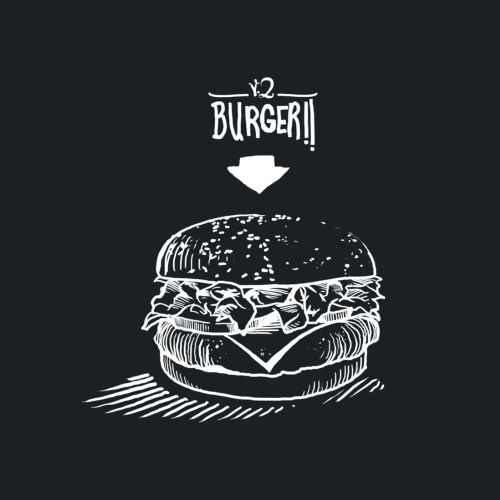 Burgeri black and white illustration