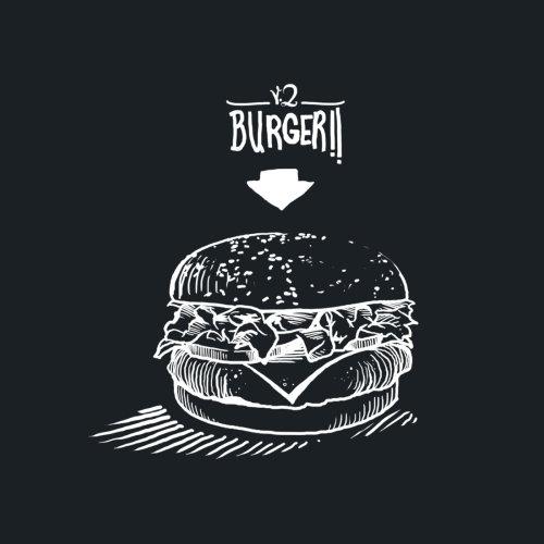 Burgeri black and white illustration