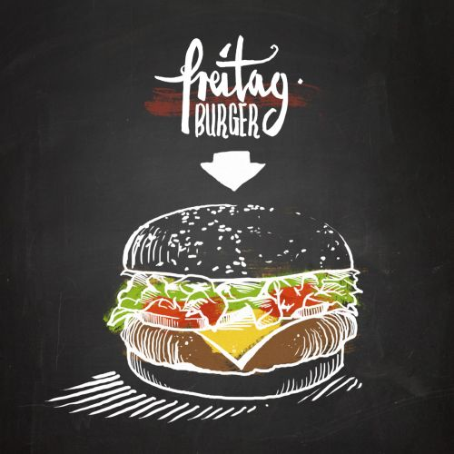 Preitag burger illustration