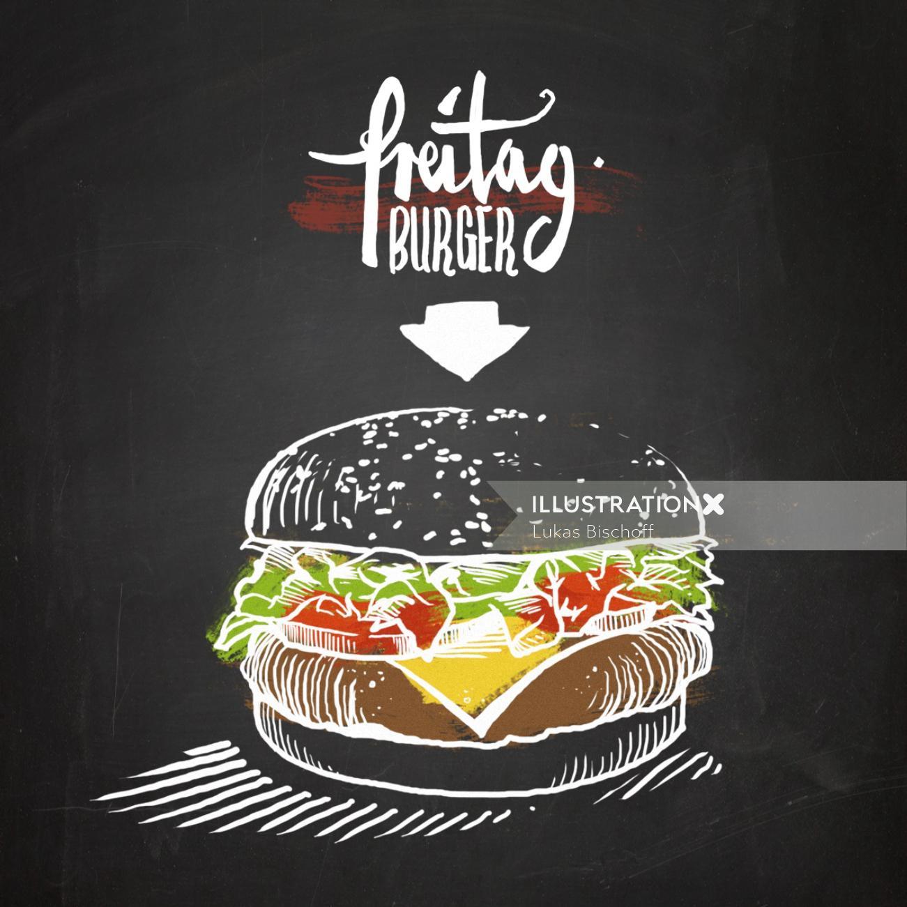 Preitag burger illustration