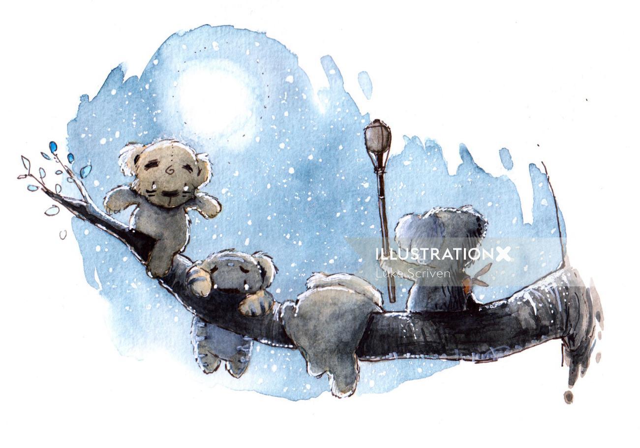 Little bears painting