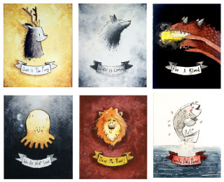 Game of Thrones Sigils Watercolour Art